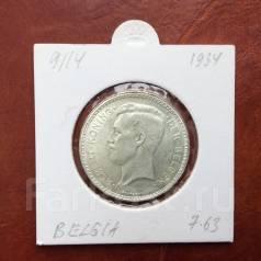 Серебряная монета 20 франков Бельгия 1934. г