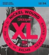 D`Addario EXL145 XL Nickel Wound Струны для электрогитары Heavy 12-54