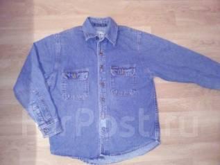Рубашки джинсовые. Рост: 104-110, 110-116 см