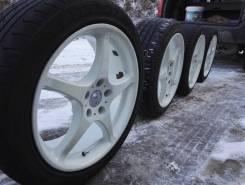 Продам колеса SSR integral A2 с резиной triangle 225/45 r18. 8.0/9.0x18 5x114.30 ET35/38