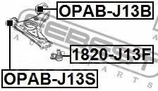 САЙЛЕНТБЛОК ПЕРЕДНИЙ НИЖНЕГО ПЕРЕДНЕГО РЫЧАГА FEBEST 95025704 OPAB-J13S
