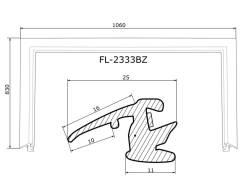 Молдинг лобового стекла SUBARU FORESTER 02-08 FLEXLINE FL2333BZ