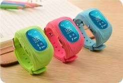 Детские часы-телефон с GPS, розовые