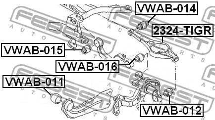 Сайлентблок. Volkswagen: Passat, Eos, Jetta, Scirocco, Tiguan, Sharan, Passat CC, Touran, Golf Seat Altea, 5P1, 5P5, 5P8 Seat Leon, 1P1 Seat Alhambra...