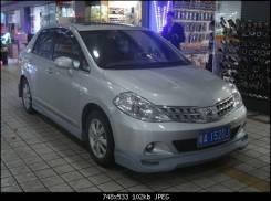 Обвес кузова аэродинамический. Nissan Tiida Latio Nissan Latio