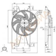 Диффузор радиатора в сборе FORD FUSION/FIESTA 2001-2008/MAZDA 2 2002- ST-FD08-201-0