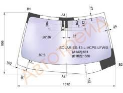 Стекло лобовое в клей LEXUS ES SERIES (ES350) 4D SEDAN 13- XYG SOLAR-ES-13-L-VCPS LFW/X