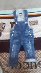 Комбинезоны джинсовые. Рост: 68-74, 74-80 см