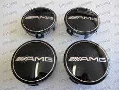 """Ступичные колпачки на литьё AMG, компл. 4 чёрные. Диаметр 20"""", 1 шт."""