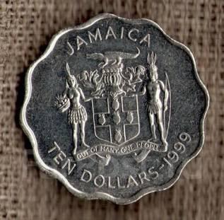 Ямайка 10 долларов 2005 год