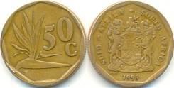 ЮАР 50 центов 1993 год (иностранные монеты)