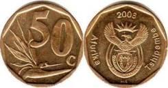 ЮАР 50 центов 2008 год (иностранные монеты)