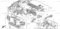 Панель под фару Honda (OE: 04611-SN7-300ZZ), оригинал. Honda Accord Двигатели: H23A3, F20Z1, F20Z2, F18A3