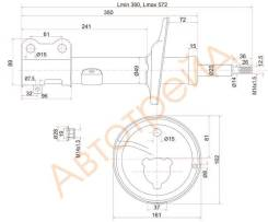 Стойка задняя TOYOTA COROLLA/SPACIO/SPRINTER/CARIB 91-02 4WD LH SAT ST-48540-19175