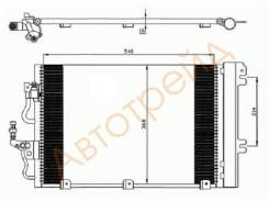 ST-OP006-394-0 SAT Радиатор кондиционера OPEL ASTRA H 1.4/1.6/1.8 04-11/OPEL ZAFIRA B 1.6/1.8 05-