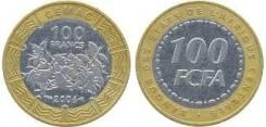 Центральная Африка 100 франков 2006 год FCFA (иностранные монеты)