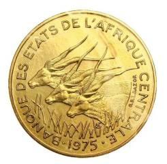 Центральная африка 10 франков 1977 год (иностранные монеты)