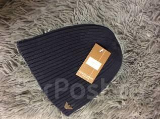 "Брендовая шапка ""Gioigio Armani"", качество люкс. Унисекс. Синий цвет"