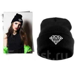 """Модная шапка """"Diamond"""". Унисекс. Черный цвет"""