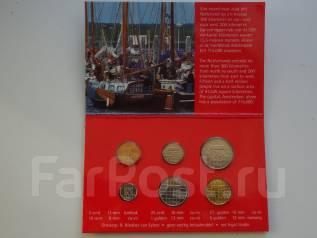 Нидерланды набор дореформенных мини-монет в буклетике.