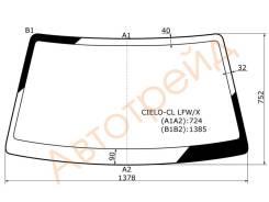 Стекло лобовое в клей(без полосы) DAEWOO NEXIA 95- XYG CIELO-CL LFW/X