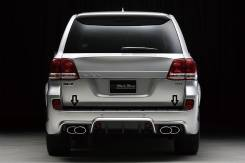 Накладка на бампер. Toyota Land Cruiser, VDJ200, GRJ200, URJ200, URJ202, UZJ200 Двигатели: 1VDFTV, 3URFE, 1URFE, 1GRFE, 2UZFE