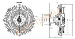 Вискомуфта MITSUBISHI L200 05-/PAJERO/MONTERO SPORT 2.5D 08-