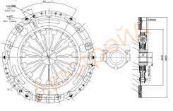 Комплект сцепления TOYOTA AURIS/COROLLA E150 1,6 07- SAT ST-WTY0150