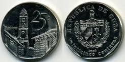 Куба 25 сентаво 2008 год (иностранные монеты)