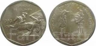 Колумбия 10 песо 1981 (иностранные монеты)
