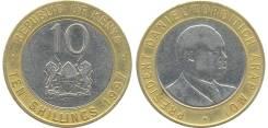 Кения 10 шиллингов 1997 год (иностранные монеты)