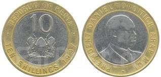 Кения 10 шиллингов 1997 год