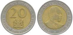 Кения 20 шиллингов 1998 год (иностранные монеты)