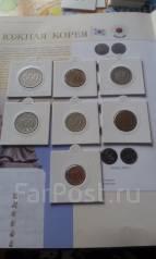7 монет Южной Кореи в профессиональных холдерах. Без повторов.