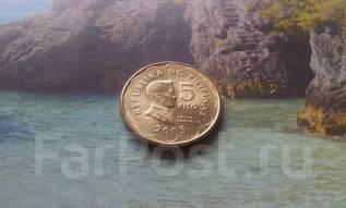 Филиппины. 5 песо 2005 года.