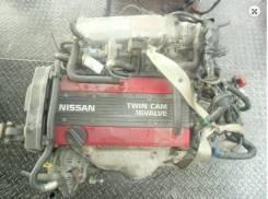 Двигатель в сборе. Nissan Silvia Nissan Bluebird Двигатель CA18DE