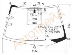 Стекло лобовое в клей(без полосы) MITSUBISHI LANCER 00-07 4/5D XYG FW02275-CL LFW/X