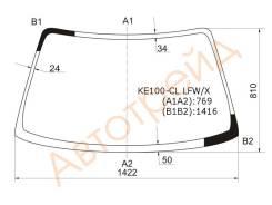 Стекло лобовое в клей без полосы TOYOTA COROLLA 4D/5D /COROLLA FX 91-02 XYG KE100-CL LFW/X