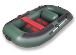 Лодка надувная ПВХ Комфорт 300 зеленая. длина 2,95м., 2,50л.с.