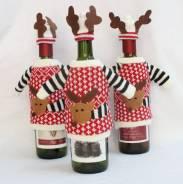 Новогодний костюм оленя для бутылок. Под заказ