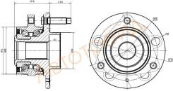 Ступичный узел FR CHEVROLET CRUZE/OPEL ASTRA J/ZAFIRA 09- (R16) SAT ST-13502829