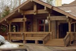 Строительство из дерева.