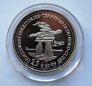 25 центов 1992г. 125 лет Конфедерации Канада - Северо-Западные терр.