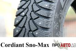 Cordiant Sno-Max. Зимние, шипованные, 2015 год, без износа, 4 шт