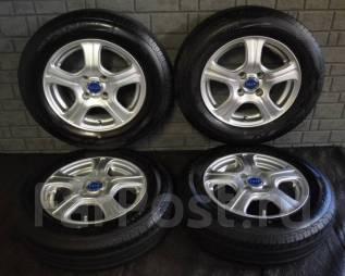 Литые диски R14 с летними шинами 175/70R14 Bridgestone Nextry Ecopia. 5.5x14 4x100.00 ET45 ЦО 73,0мм.