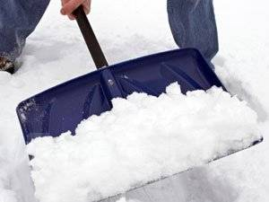 Ручная уборка снега!