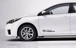 Наклейка. Toyota Corolla, 10