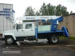 ГАЗ-33081. Автогидроподъемник ВИПО-18-01 на шасси (4х4) (5м. каб), 100 куб. см., 18 м.