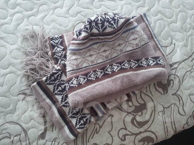 Шапка и шарф. 54, 55, 56, 57, 58, 55-59, 59, 60, 61