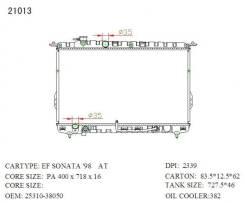 Радиатор охлаждения двигателя. Hyundai Sonata